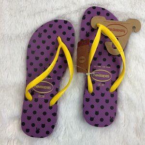 Havaianas Flip Flops Thongs Purple 7 8 Sandals